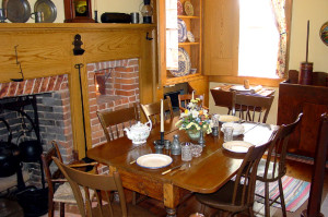 The Brigham Young Nauvoo home, interior view. Photo by Kenneth Mays.