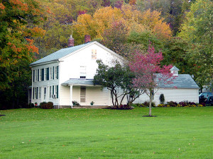 Home situated on what was once the Isaac Morley farm. Photo (2001) by Kenneth Mays.