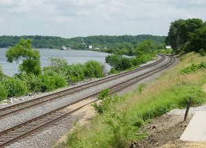 Looking south at the Mississippi River from Montrose, Iowa.