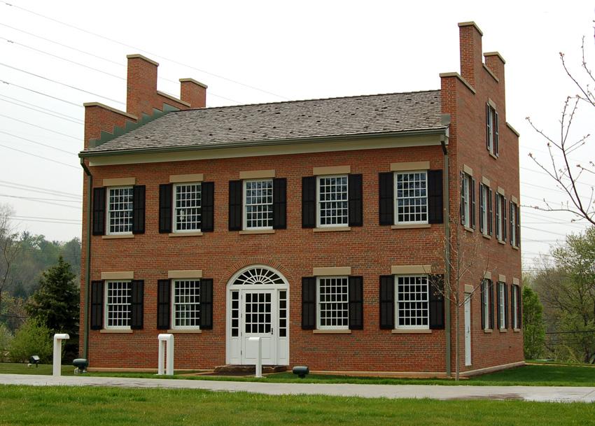 Reconstructed John Johnson Inn, Kirtland, Ohio. Photo (2008) by Kenneth Mays.