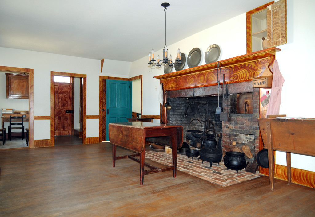 Interior view of the John Johnson home at Hiram, Ohio. Photo (2008) by Kenneth Mays.