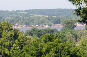 Montrose, Iowa as seen from the Nauvoo Temple. Photo by Kenneth Mays.