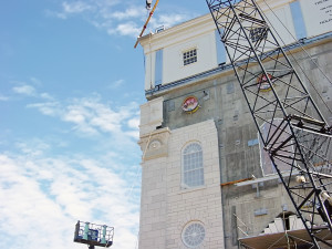 The Nauvoo Temple under construction. Photo by Kenneth Mays.