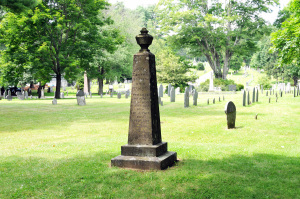 Landscape view of the Smith monument, Pine Grove Cemetery. Photo by Kenneth Mays