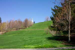 The Hill Cumorah, where Moroni deposited the gold plates Photo courtesy of David C. Wadsworth