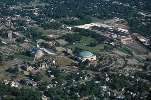 Aerial View of Independence, Missouri Photo courtesy of Alexander L. Baugh