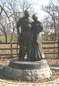 Statue at the Nauvoo Burial Ground Photo courtesy of Alexander L. Baugh