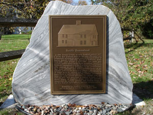 Marker at the Smith Homestead Photo courtesy of David Keating