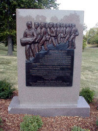 The Marker at Troost Park Photo courtesy Alexander L. Baugh
