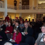 The congregation gathered at the Nathaniel H. Felt plaque ceremony. It was held in the Phillips Library of the Peabody-Essex Museum.  Photo courtesy Fred E. Woods.