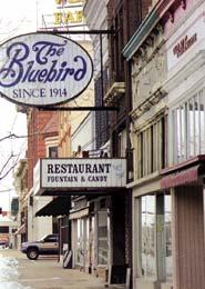 The Bluebird cafe has been a landmark on Logan's Main Street since 1914.