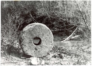 One of there millstones from Hawn's Mill. Photo (1907) by George Edward Anderson.