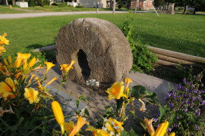 Millstone from Hawn's Mill in Breckenridge, Missouri. Photo by Kenneth Mays.