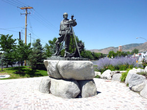 Monument to Parley P. Pratt, SLC, UT. Photo by Kenneth Mays.