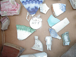 Ceramic fragments from archaeological excavations in the 1960s at sites of old Mormon homes and buildings in Nauvoo, Ill. The artifacts were neglected for years.. Associated Press