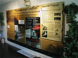 """Courage and Conflict:"" The Mormon Tradition in Kirtland exhibit located at the Lake County Historical Society in Kirtland. Photo courtesy Alexander L. Baugh"