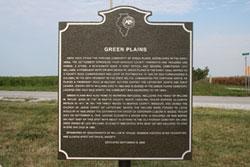 The Green Plains Marker Photo courtesy of Kim R. Wilson