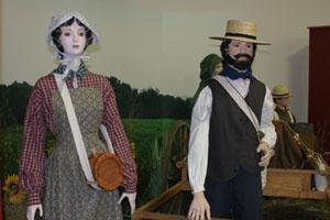 The handcart exhibit
