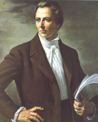 Joseph Smith Jr. Courtesy Alvin Gittins, Intellectual Reserve, Inc.