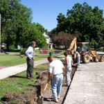 The Foundation helped to replace the curbs at Triangle Park in Keokuk.  Photo courtesy Fred E. Woods