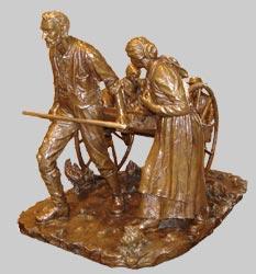 The Knaphus Handcart Sculpture