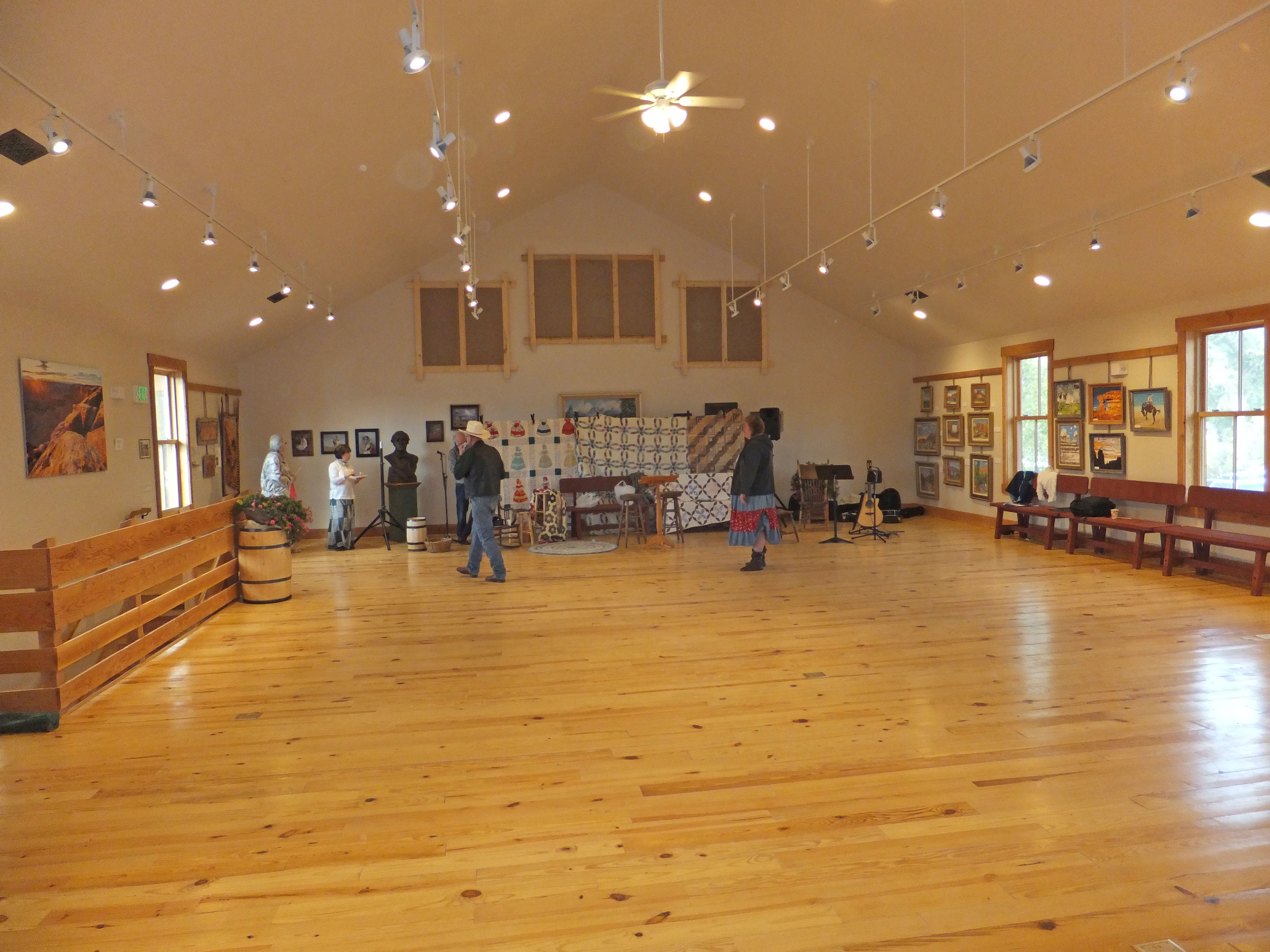 The upstairs of the rebuilt Bluff Co-op store.