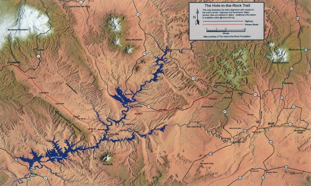 The route from Escalante to Bluff, Utah was nearly 200 hundred miles.