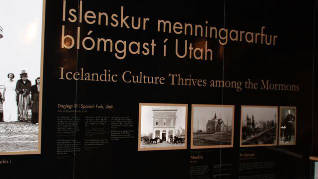 A new museum exhibit in Vestmannaeyjar, Iceland, tells the story of Icelanders who joined The Church of Jesus Christ of Latter-day Saints and emigrated to Utah between 1854 and 1914. © 2011 Intellectual Reserve, Inc. All rights reserved