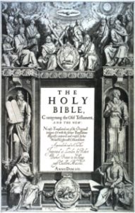 The title page to the 1611 first edition of the Authorized Version Bible by Cornelis Boel.