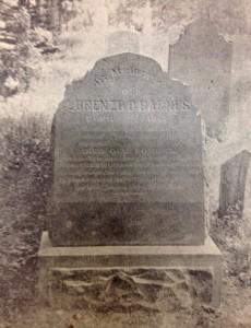 Lorenzo Barnes early grave marker in Salt Lake City.