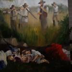 Mobbers Shooting painting by Sandra Rast.