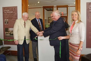 Quincy Museum Display Ribbon Cutting