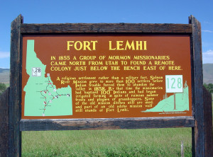 Fort Lemhi sign - 02