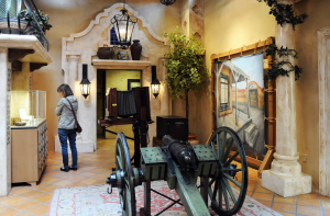 Interior view, Mormon Battalion Visitor Center, San Diego, CA. Photo by Kenneth Mays.