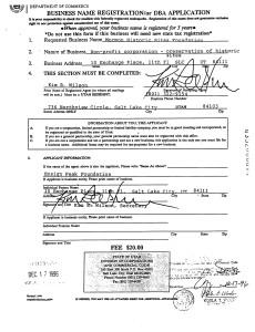 dba Certificate