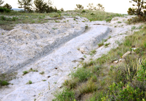Another segment of wagon ruts at Guernsey, Wyoming
