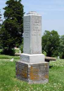 Grave of David Whitmer, one of the Three Witnesses of the Book of Mormon.