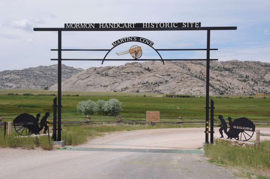 Entrance to Mormon Handcart Historic Site. Photo by Kenneth Mays.