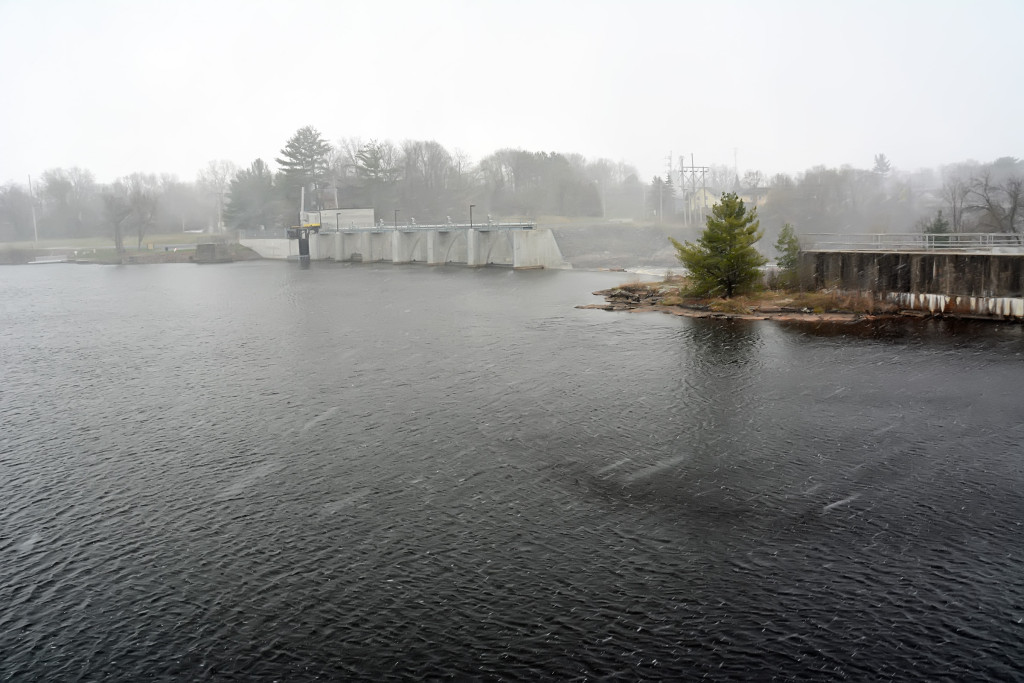 Hydroelectric dame, where Mormon loggers operated sawmills at Black River Falls, WI.