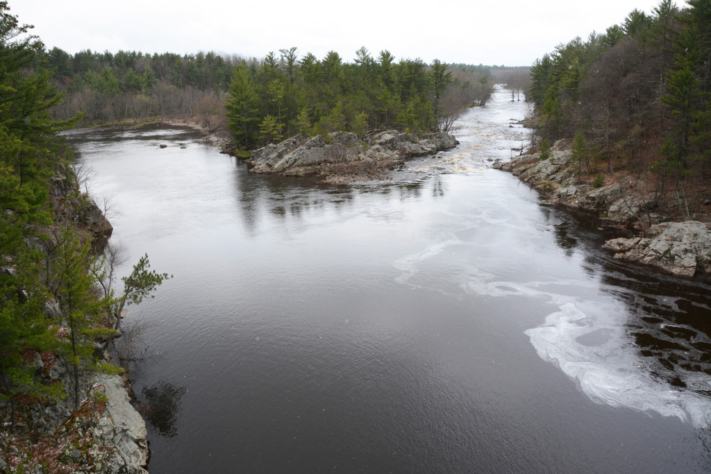 "The Black River at the site known as ""Mormon Riffles."""