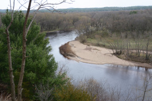 The Black River below Black River Falls, WI working its way to the Mississippi River.