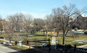 Washington Park, Quincy, Illinois as seen from The History Museum.