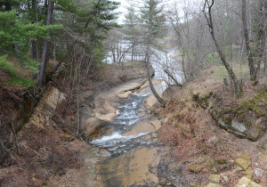 Roaring Creek as it joins the Black River, site of the first sawmill used by Latter-day Saints in Wisconsin.