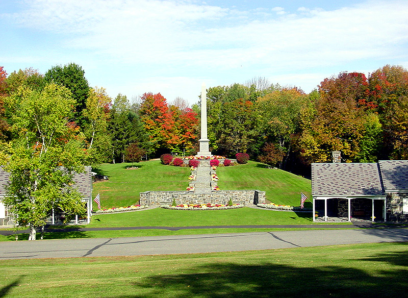 Sharon, Vermont showing the monument to Joseph Smith. Photo by Kenneth Mays