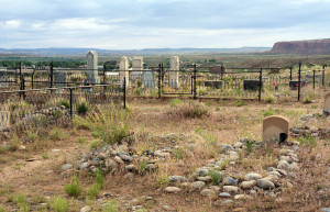 Cemetery at Bluff, Utah. Photo by Kenneth Mays.