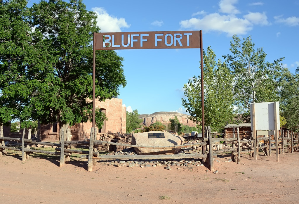 Recreated Bluff Fort.