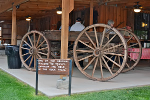 Original wagon that made the Hole-in-the-Rock journey in 1880. Photo by Kenneth Mays.