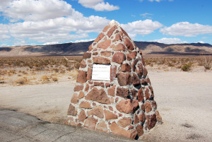 """Nothing but more nothing"" stone monument, Anza-Borrego Desert State Park. Photo by Kenneth Mays."