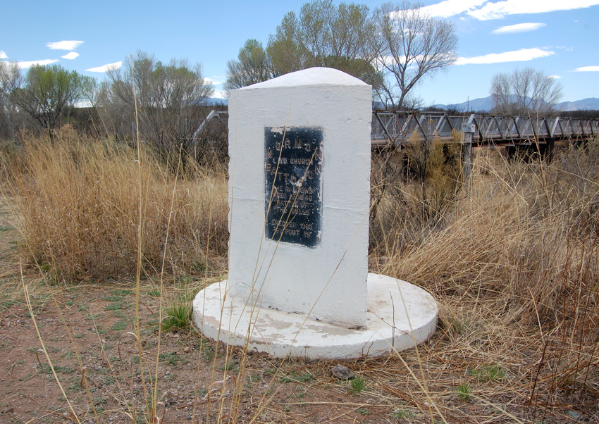 Historical marker at the site of the Battle of the Bulls. Photo by Kenneth Mays.
