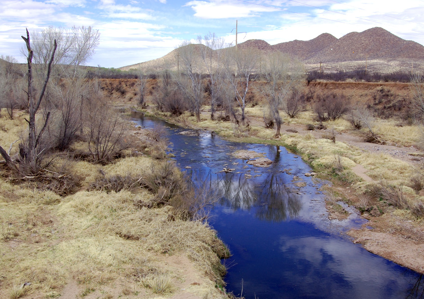 """Site where the Mormon Battalion had its """"Battle of the Bulls."""" Photo by Kenneth Mays."""